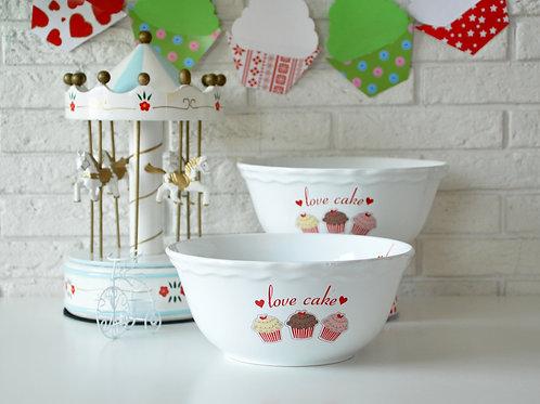 2 Pcs Snack Bowl 004 FRUIT CAKE 25 Cm