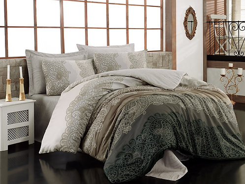 Clasy Cotton Duvet Sets - Safiye Beige