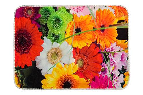 Digital Printed Mat 50x70 Cm - Colorful Flowers V2