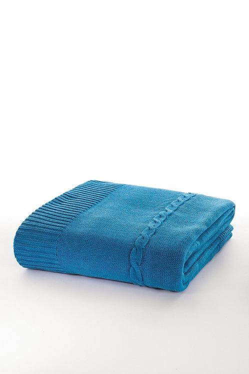 Tricot Blanket - 130x170 Cm-Fancy Blue