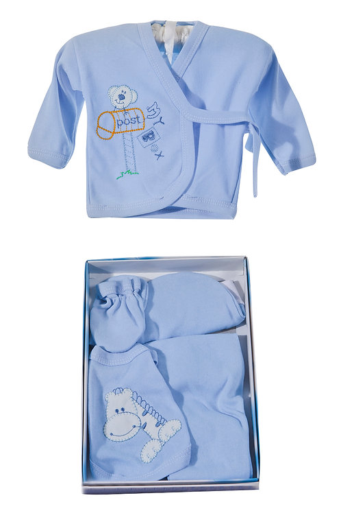 Burtaç Baby 5 Pcs. Newborn Baby Set 1103-Blue