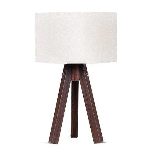 Royal Tripod Lampshade - White / Brown