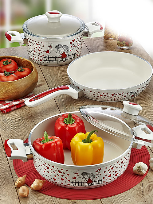 5 Pcs Aluminum Ceramic Cookware 321506