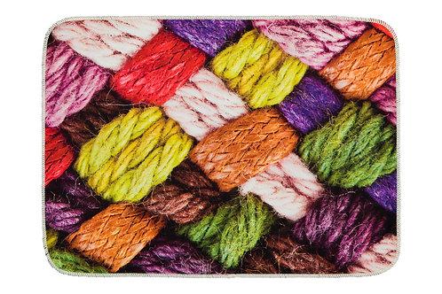 Digital Printed Mat 50x70 Cm - Knitting