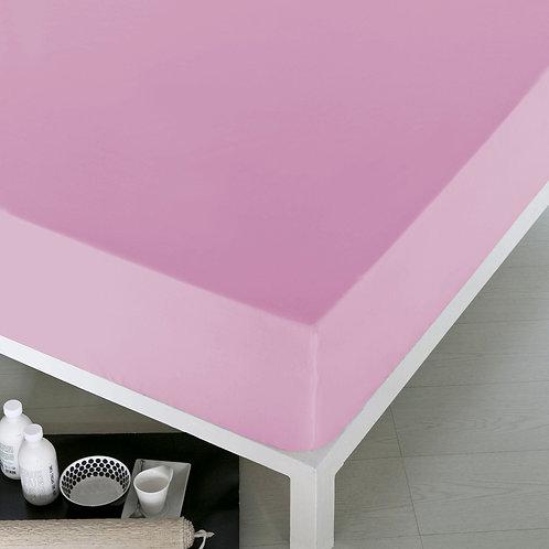 Home De Bleu Rnfrc Fitted Sheet 90x200-Light Pink