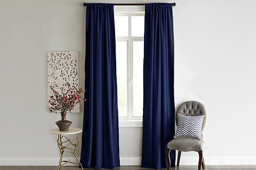 Home De Bleu Curtain 140x240 Cm (2 Pcs) - Dark Blu
