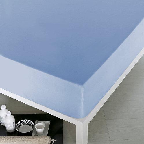 Home de Blue Fitted Sheet 160x200 Cm(Ak)Blue(2Pcs)