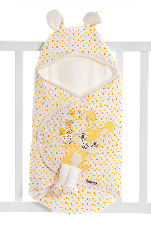 Bebecix Baby Printed Spotted Swaddle 4509-  Yellow