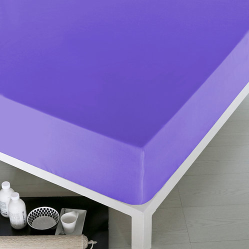 Home de Blue Fitted Sheet 160x200 Cm -(Pak) Lilac