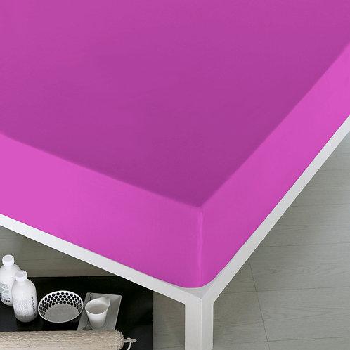 Home de Blue Fitted Sheet 100x200 Cm(Pak)Pink(2Pcs