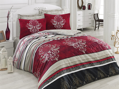 Clasy Cotton Duvet Sets - Azra Burgundy