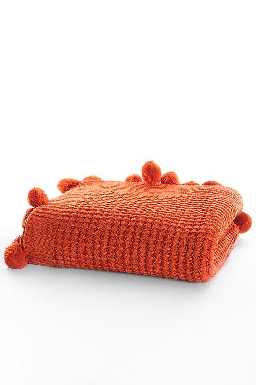 Tricot Blanket - 130x170 Cm-Dream Orange