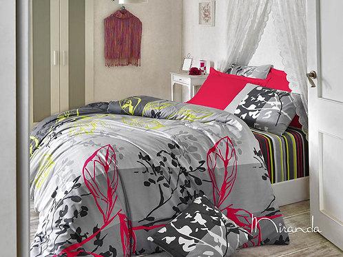 Magenta Ranforce Duvet Cover Set 135X200 Cm - Mira