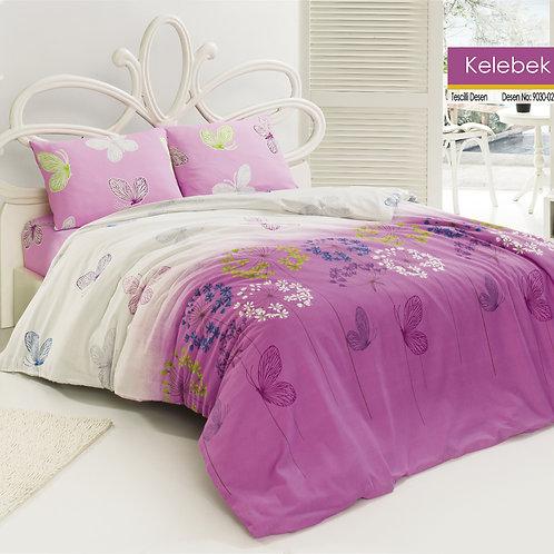 Clasy Cotton Duvet Sets - Kelebek - V02