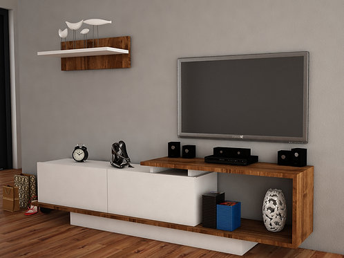 Asos Tv Unit - White Walnut