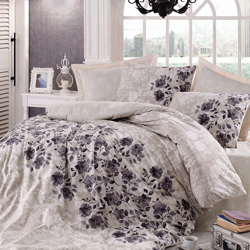 Clasy Cotton Duvet Sets - Lena Grey