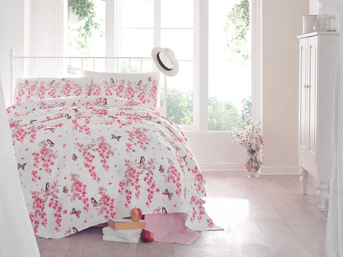 Cotton Duvet Sets-Angela Pink