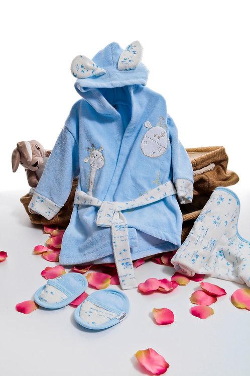 Bebessi Bathrobe Set 189-Blue