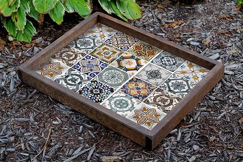 Dekorjinal Hand Made Solid Wooden Digital Printing Tray