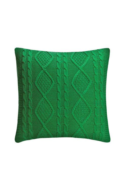 Tricot Pillow - 43x43 Cm - Kosem Green