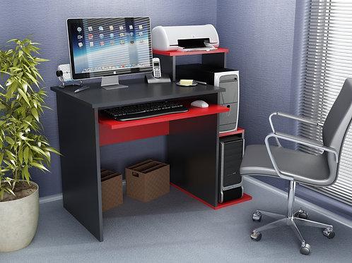 Sılver Working Table Black-Red