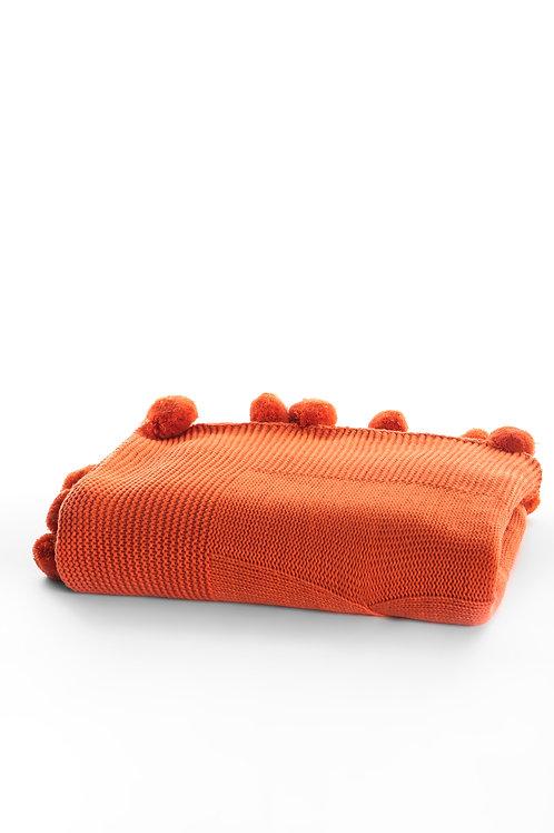 Tricot Blanket - 130x170 Cm-Stylish Orange