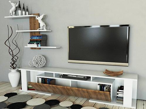Game TV Unit - white walnut