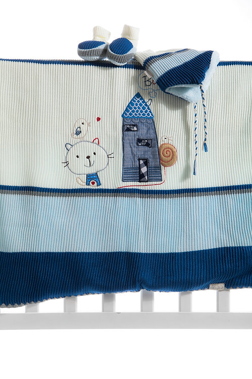 Baby Line Cat Embr. Tricot Blanket 9722