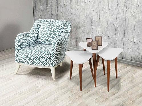 Trigon Coffee Table White-White-White