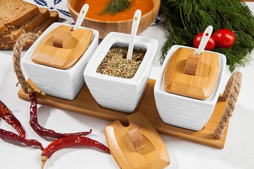 Bambum Menta 3 Pcs. Storage Jar