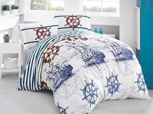 Clasy Cotton Duvet Sets - Marine