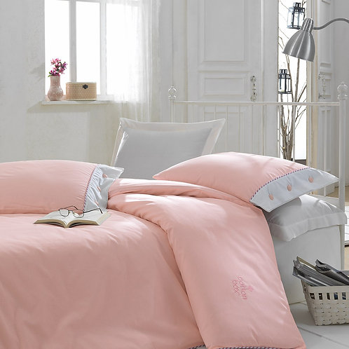 Cotton Box Ranforce Duvet Cover Set 135x200 Pink
