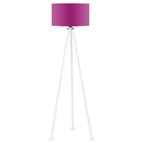Kate Louise Floor Lamp  -  Purple / White