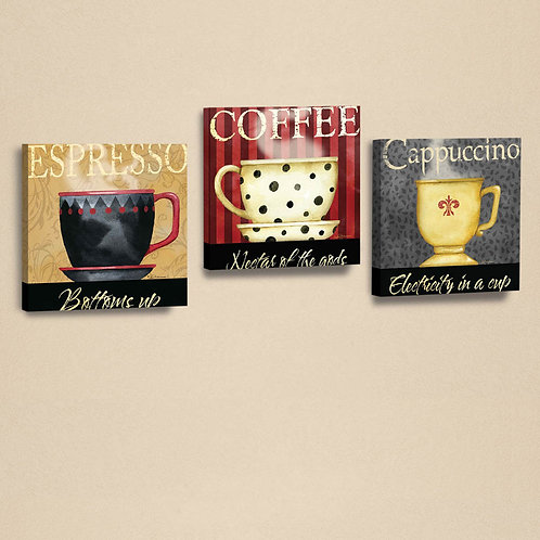 Dekorjinal 3 Pcs. Canvas Painting Set Ahm057