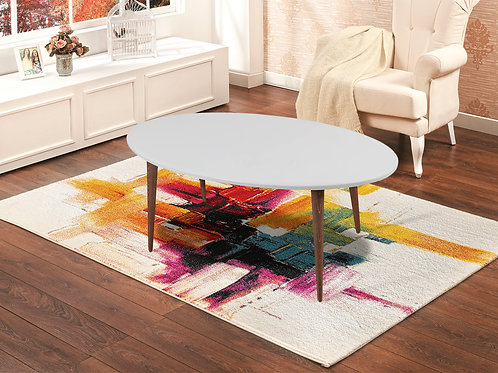 Oval Coffee Table White