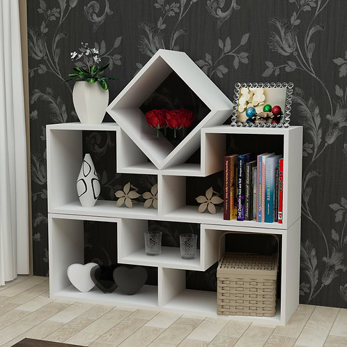 Beled Bookcase Whıte
