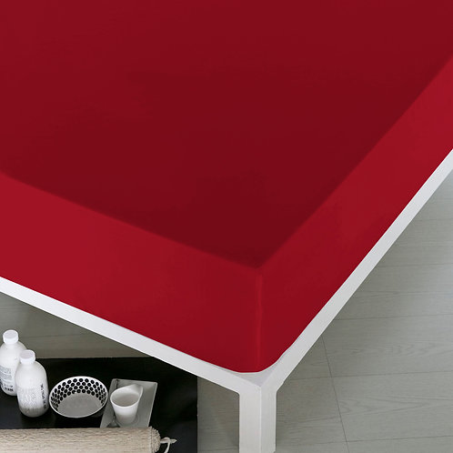 Home de Blue Fitted Sheet 160x200 Cm -(Pak) Red