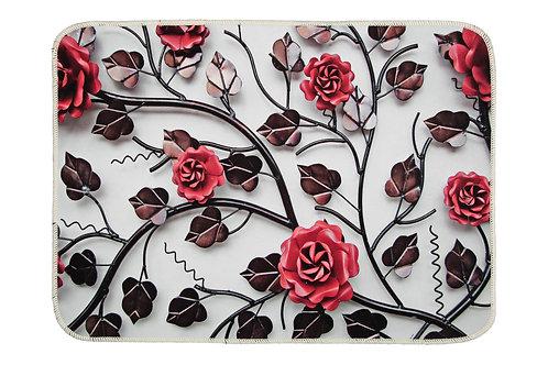 Digital Printed Mat 50x70 Cm - Metal Flowers