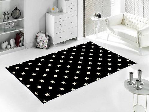 Home De Bleu - Star Rug 120x180 Cm - Black