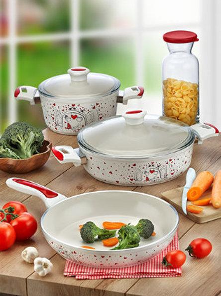 5 Pcs Aluminum Ceramic Cookware 321506