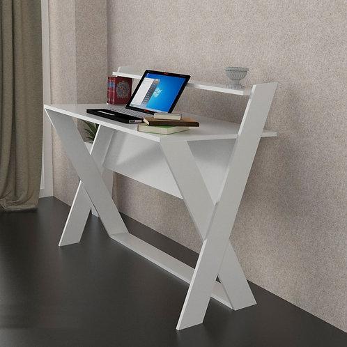 Marcella Bookcase-White-Sonomo-Black