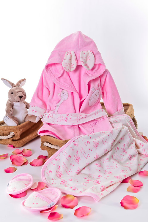 Bebessi Bathrobe Set 189-Pink 2 Age