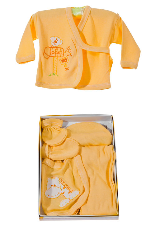Burtaç Baby 5 Pcs. Newborn Baby Set 1103-Yellow