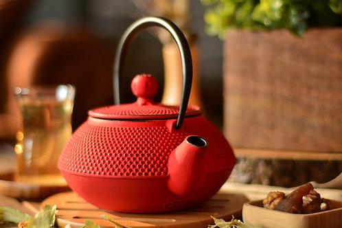 Taşev Linden - Sümbül 800 ml Red Iron Teapot T2765