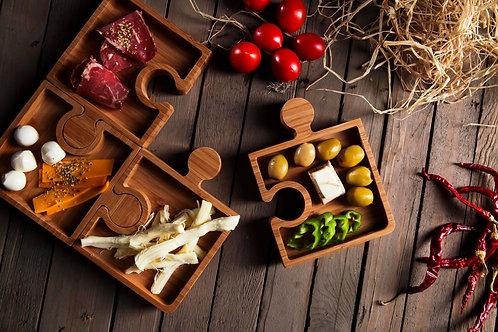 Bambum Karo Puzzle Snack plate  - (B2539)