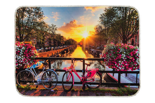 Digital Printed Mat 50x70 Cm - Amsterdam Bike