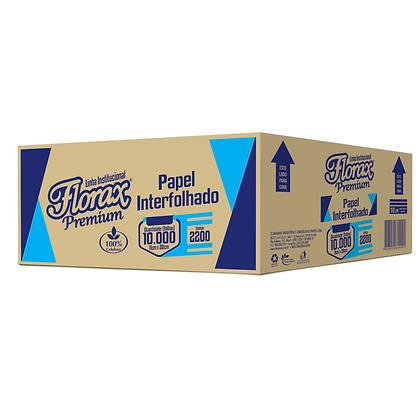 Papel Higiênico Interfolhado Florax Premium (Folha Simples) c/ 10000 folhas
