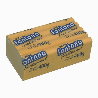 Sabão em Barra Fontana Tradicional Amarelo 400 g