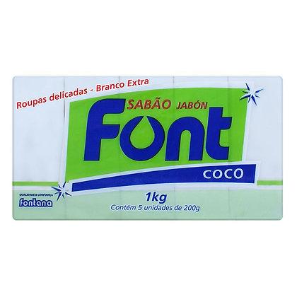 Sabão em Barra Font Econômico Coco 5x200 g