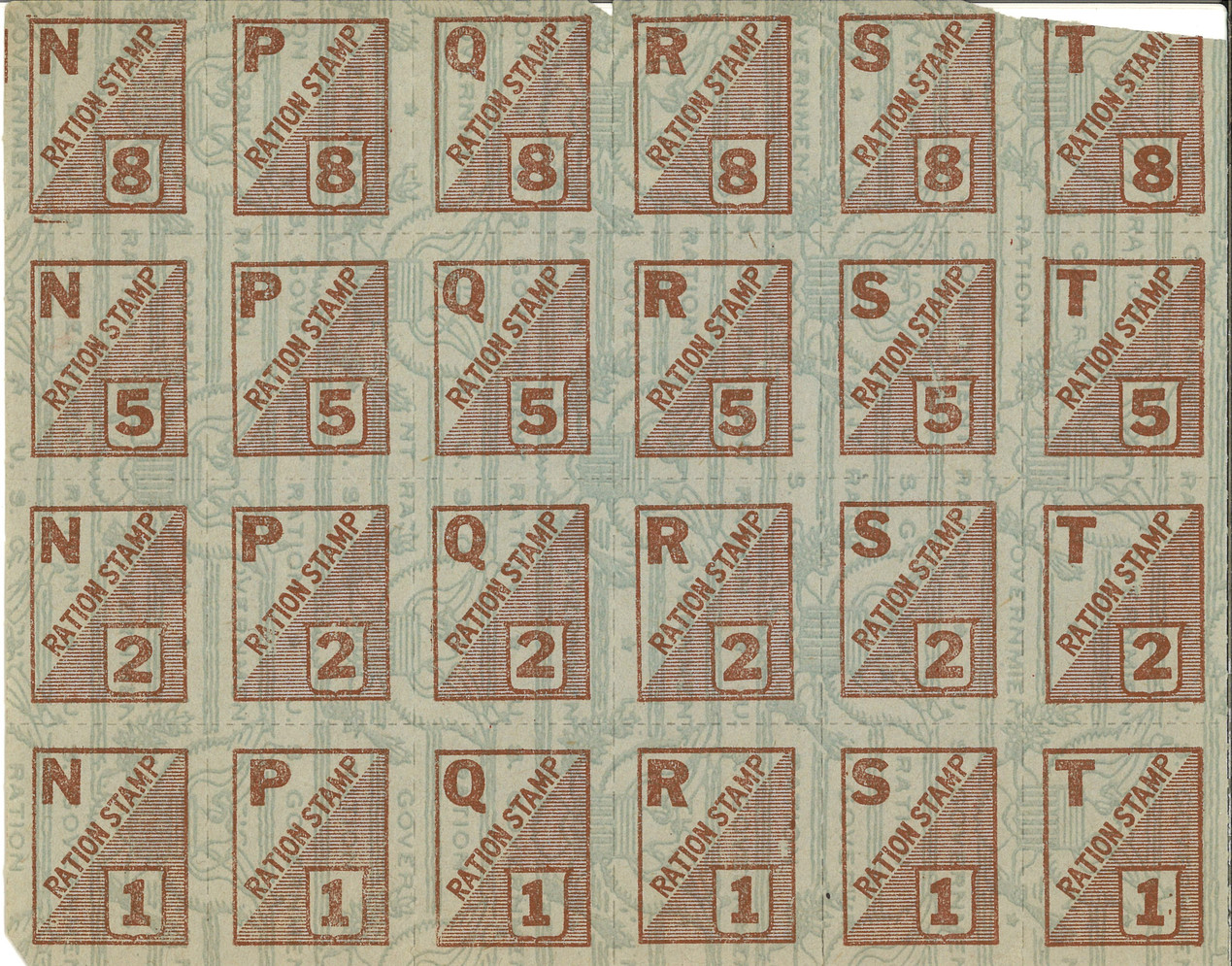 War Rations Book Stamps